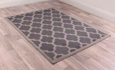 Modern Poly Tiles Grey Polypropylene Rug