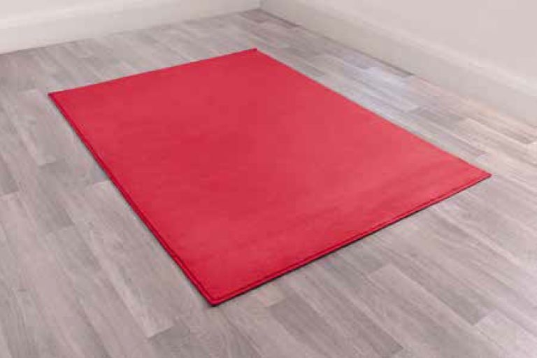 Modern Poly Moda Red Polypropylene Rug