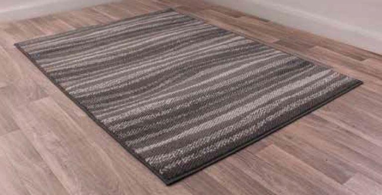 Modern Poly Waves Grey Polypropylene Rug