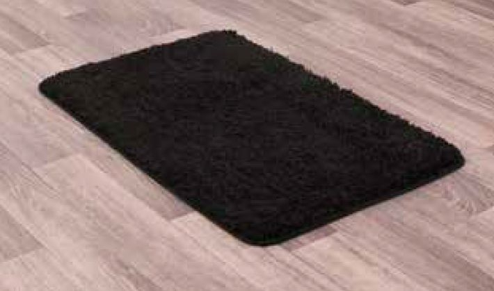 Pinnacle Black Washable Polypropylene Rug