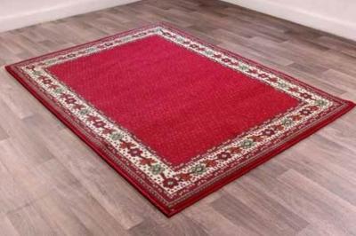 Traditional Poly Valencia Red Polypropylene Rug