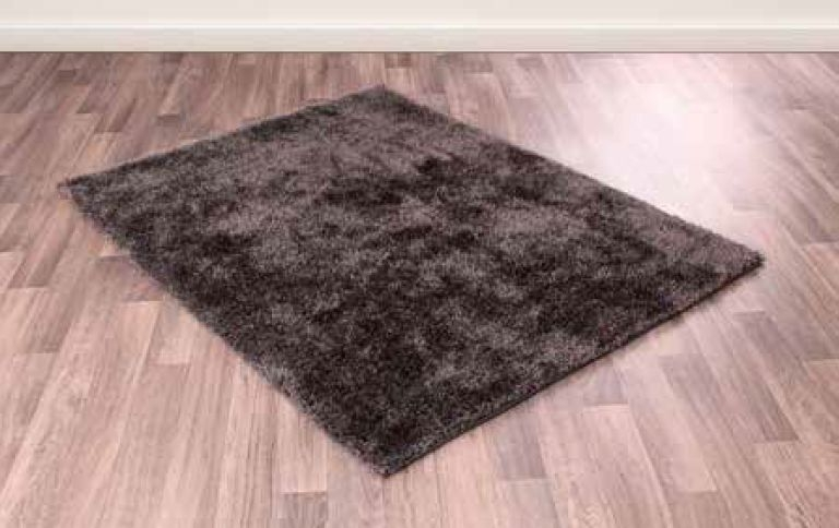 Whisper Charcoal Shaggy Polyester Rug