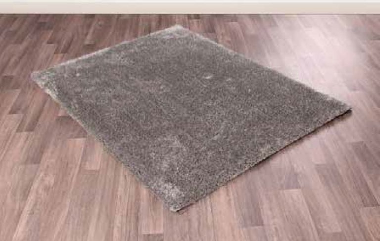 Whisper Silver Shaggy Polyester Rug