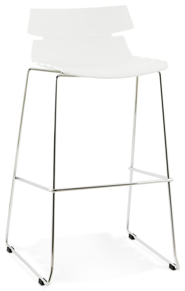 Blisco White Stainless Steel Bar Stool - (Set of 4)