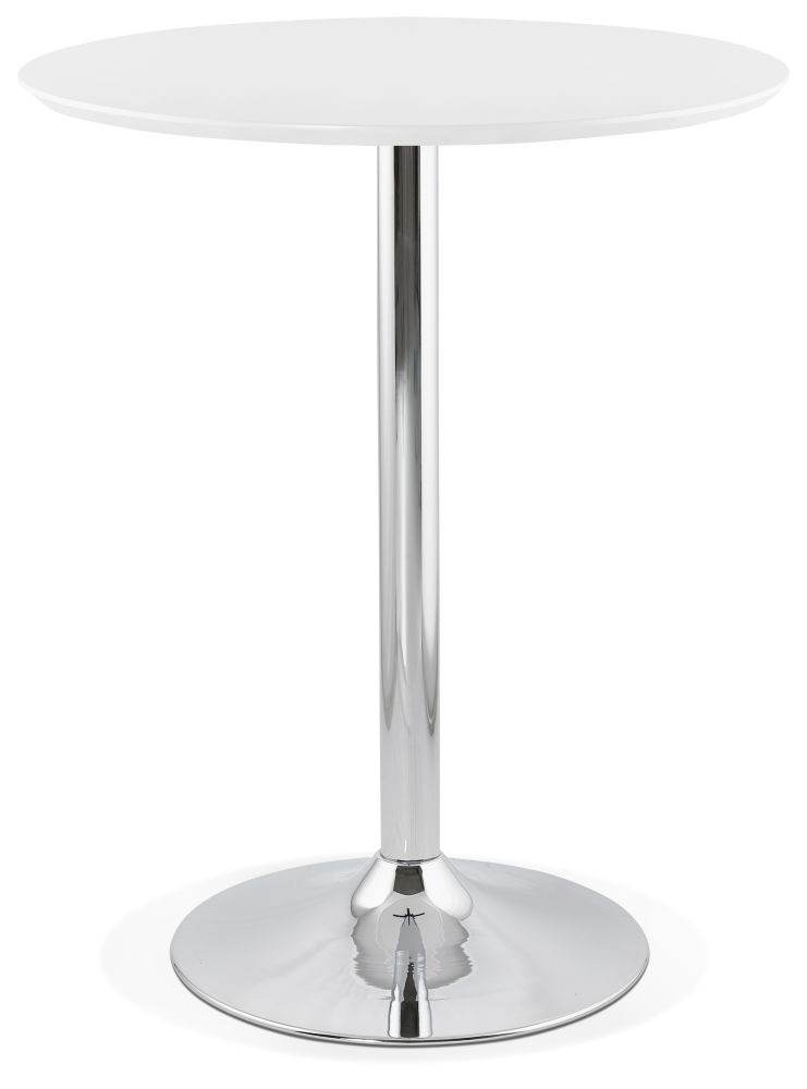 Carinne White Stainless Steel Bar Table