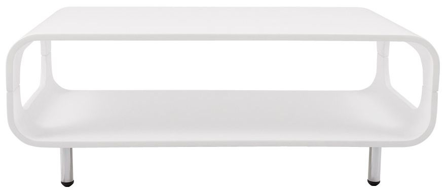 Amadeo Coffee Table - White Gloss and Chrome