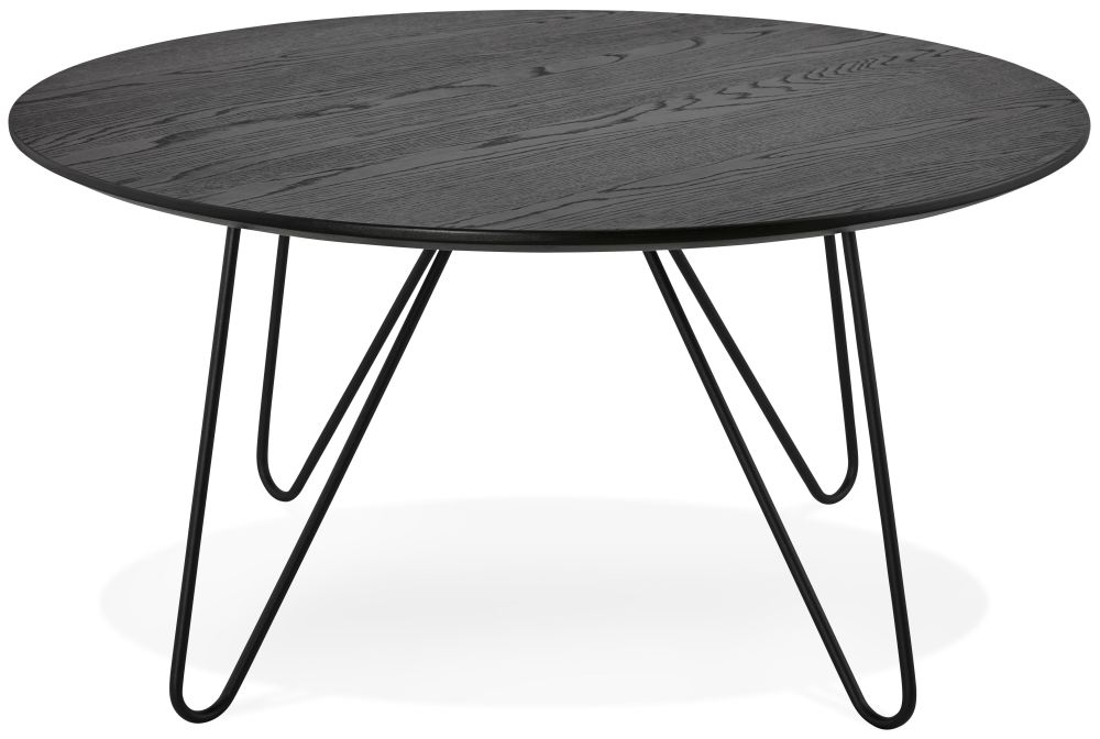 Clarissa Round Black Coffee Table