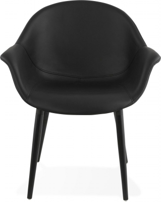Charee Black Faux Leather Chair