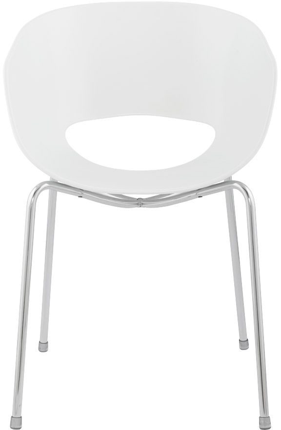 Product photograph showing Bonn White Dining Chair