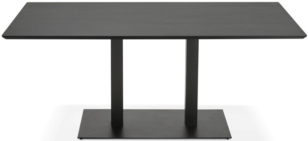 Addie Large Dining Table - Black and Painted Steel