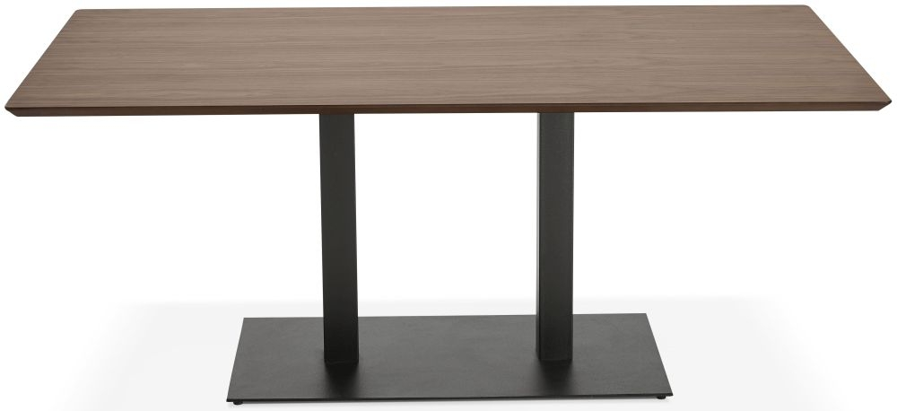 Addie Large Dining Table - Walnut and Painted Steel