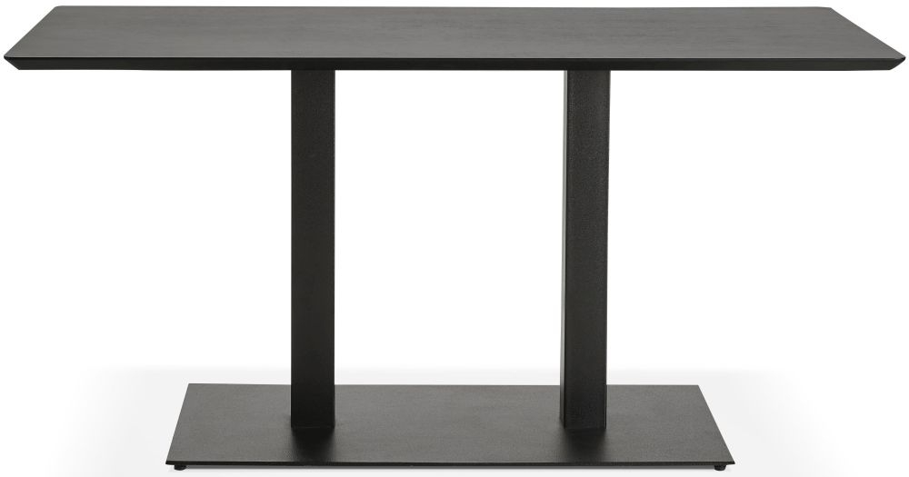 Addie Small Dining Table - Black and Painted Steel