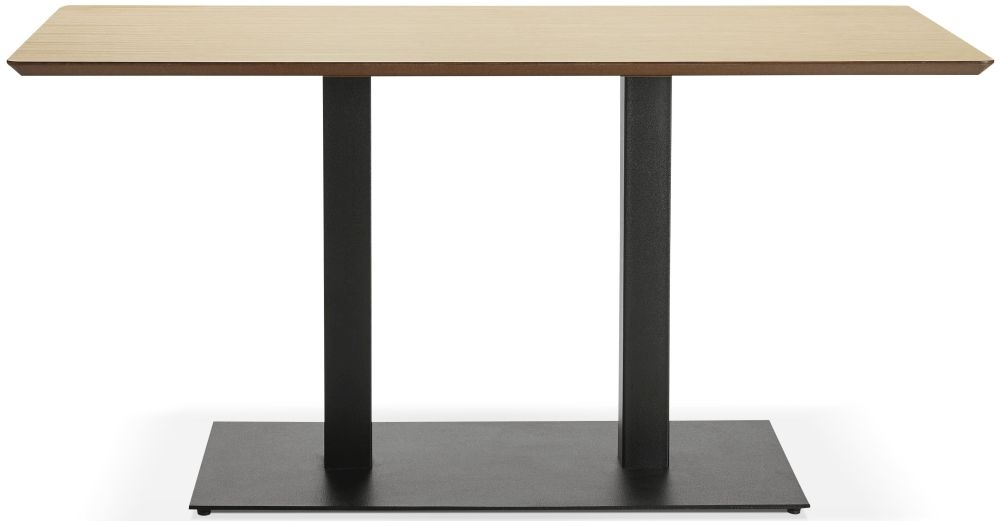 Addie Small Dining Table - Natural and Painted Steel