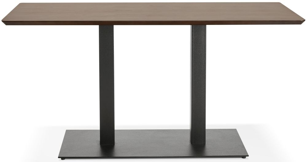 Addie Small Dining Table - Walnut and Painted Steel