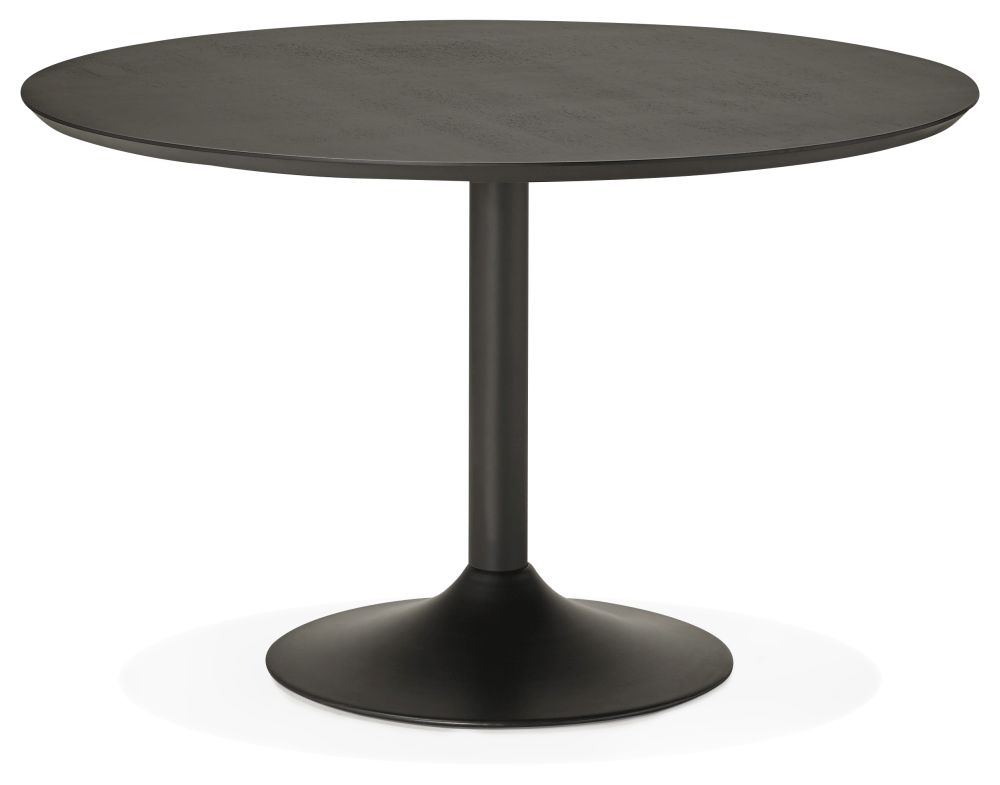Fairlawns Large Round Dining Table - Black and Painted Steel