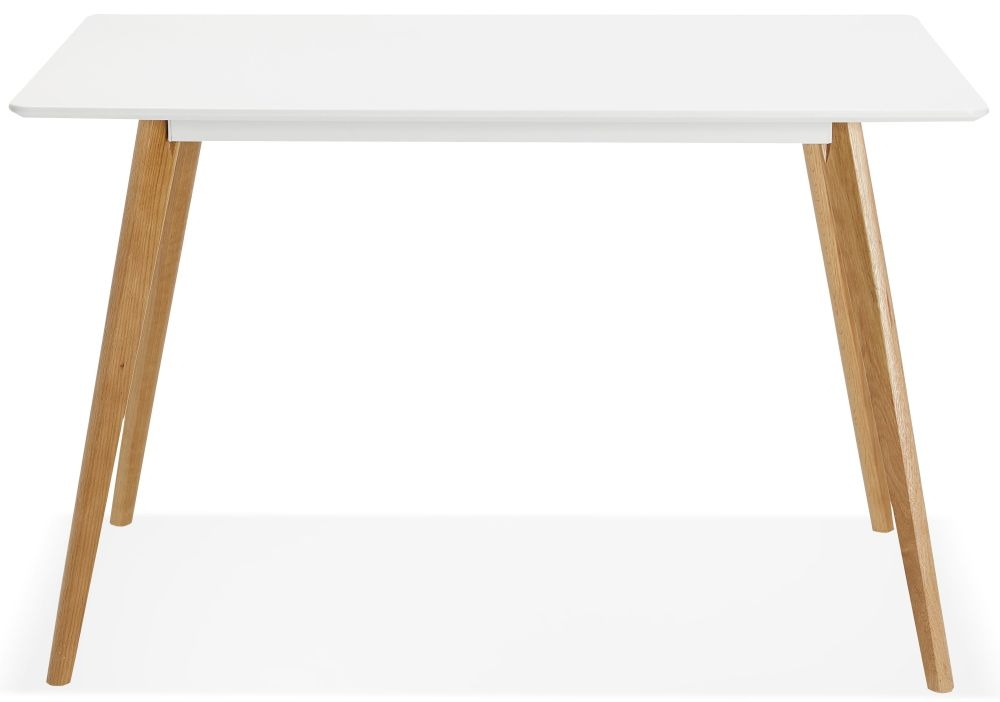 Faren Dining Table - White Painted and Oak