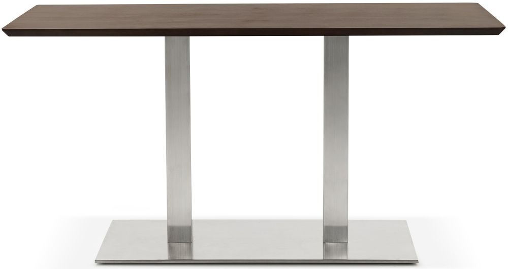 Finsbury Small Dining Table - Walnut and Brushed Steel