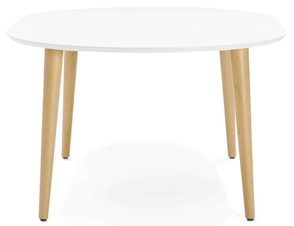 Garnet Extending Dining Table - White Painted and Oak