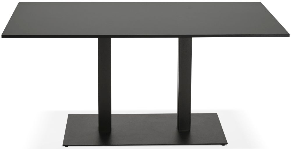 Halwall Dining Table - Black and Painted Steel