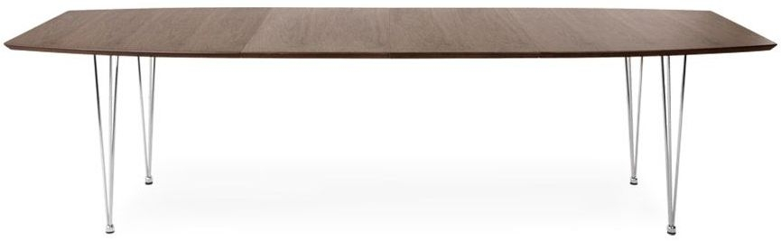 Islay Extending Dining Table - Walnut and Stainless Steel