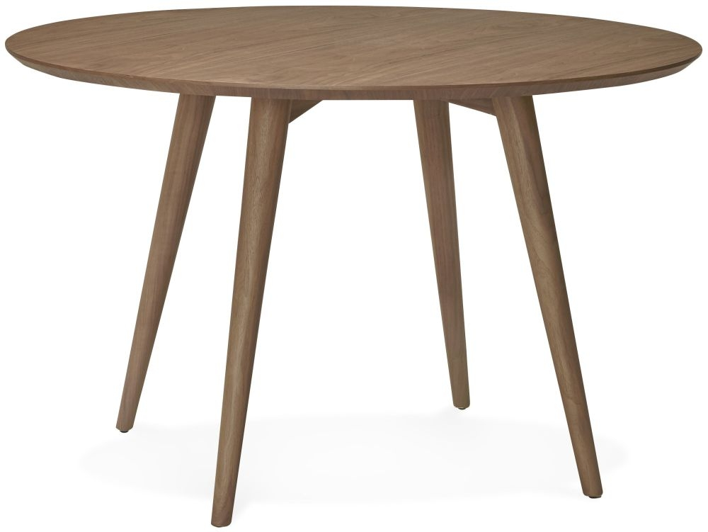 Rigel Walnut Round Dining Table