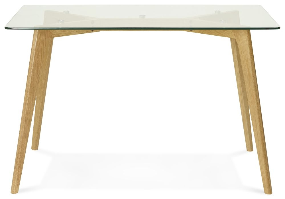 Totana Dining Table - Glass and Oak