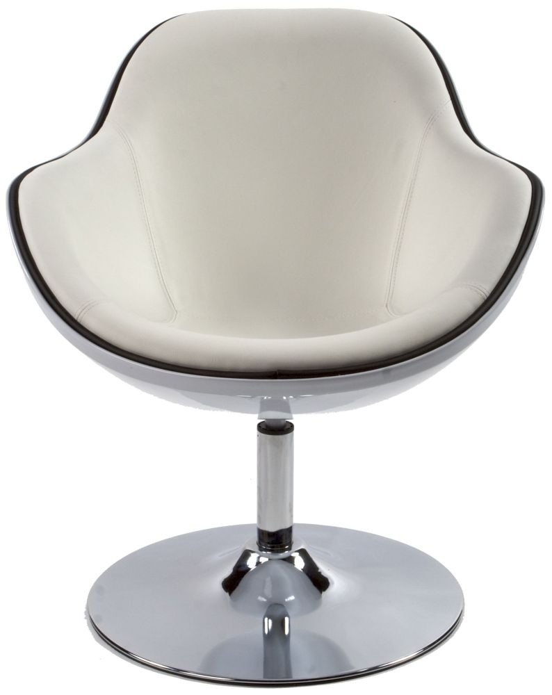 Amblar White Faux Leather Chair