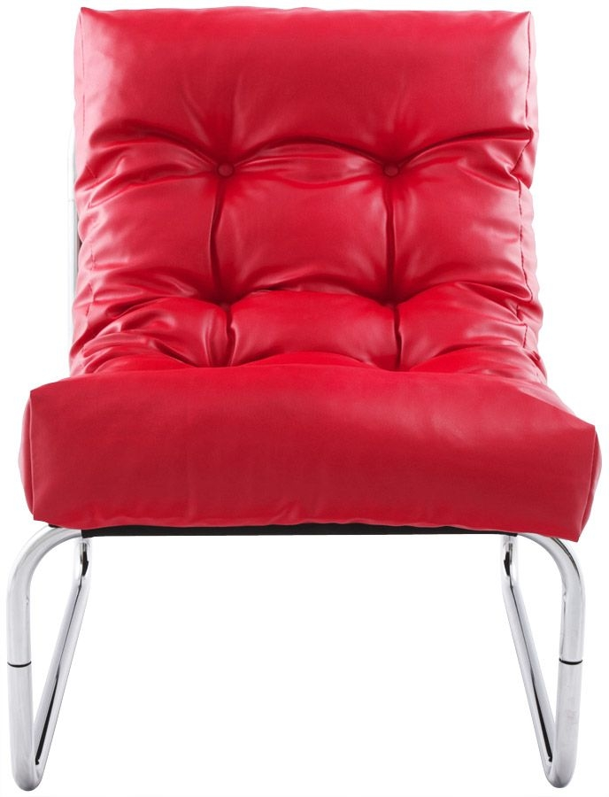 Lindau Red Faux Leather Lounge Armchair