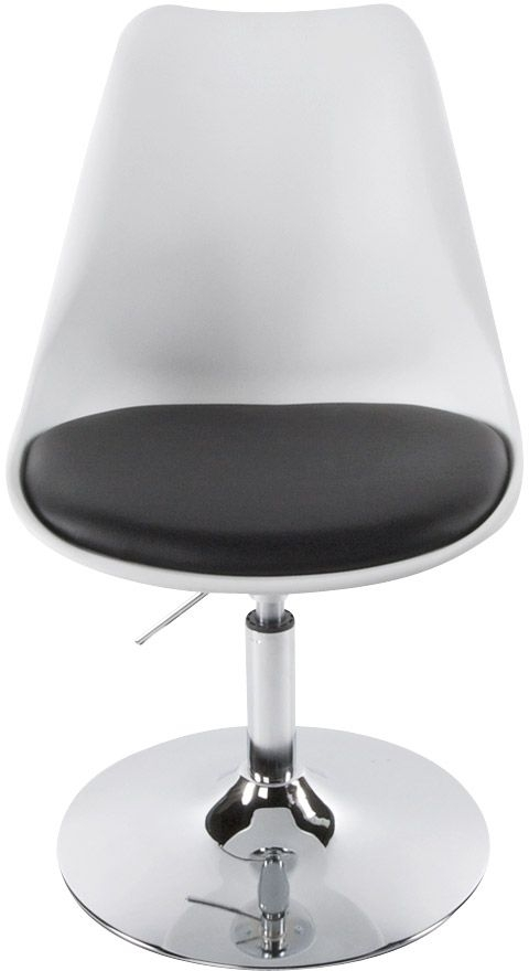 Lily Faux Leather Chair - White and Black
