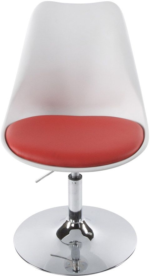 Lily Faux Leather Chair - White and Red