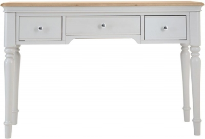 Annecy Oak and Soft Grey Painted 3 Drawer Dressing Table