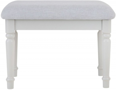 Annecy Soft Grey Painted Bedroom Stool
