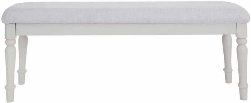 Annecy Bedroom Bench - Soft Grey Painted