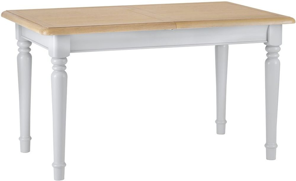 Annecy Small Extending Dining Table - Oak and Soft Grey Painted