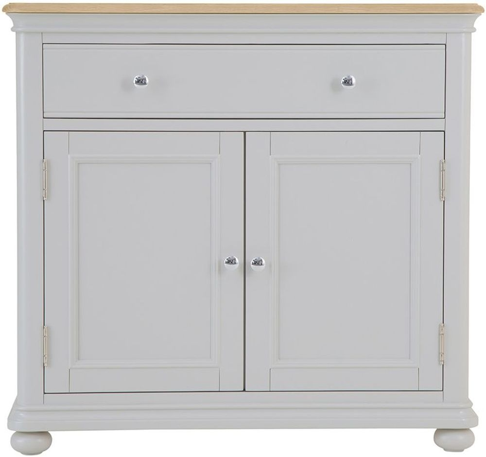 Annecy Small Sideboard - Oak and Soft Grey Painted