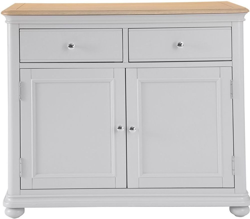 Annecy Medium Sideboard - Oak and Soft Grey Painted
