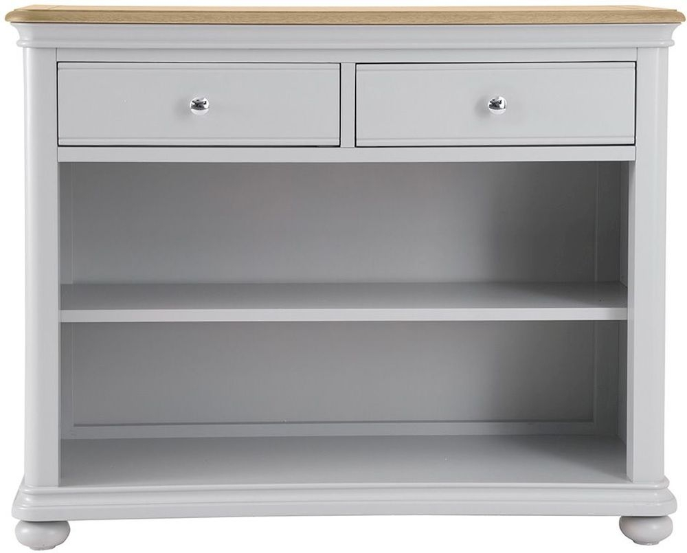 Annecy Bookcase - Oak and Soft Grey Painted