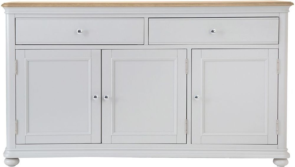 Annecy Large Sideboard - Oak and Soft Grey Painted