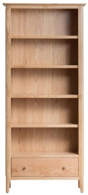 Appleby Oak 1 Drawer Bookcase