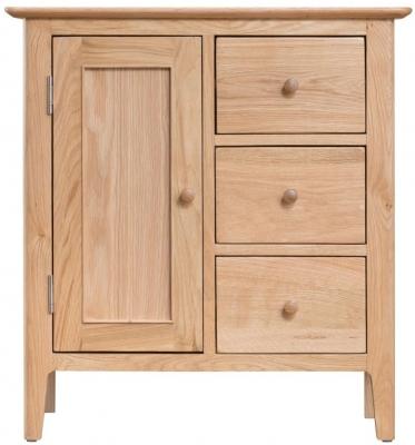 Appleby Oak 1 Door 3 Drawer Cupboard
