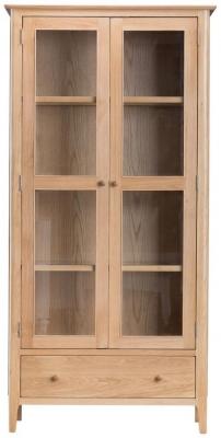 Appleby Oak 2 Door 1 Drawer Display Cabinet