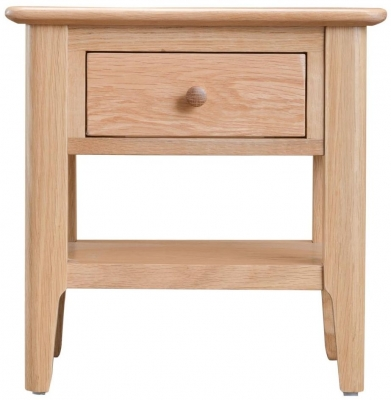 Appleby Oak 1 Drawer Lamp Table