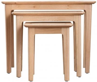 Appleby Oak Nest of 3 Tables