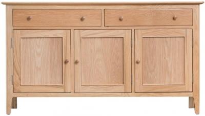 Appleby Oak 3 Door 2 Drawer Sideboard