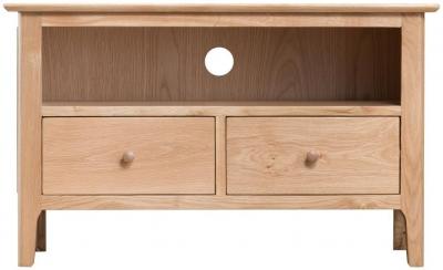 Appleby Oak 2 Drawer Standard TV Unit