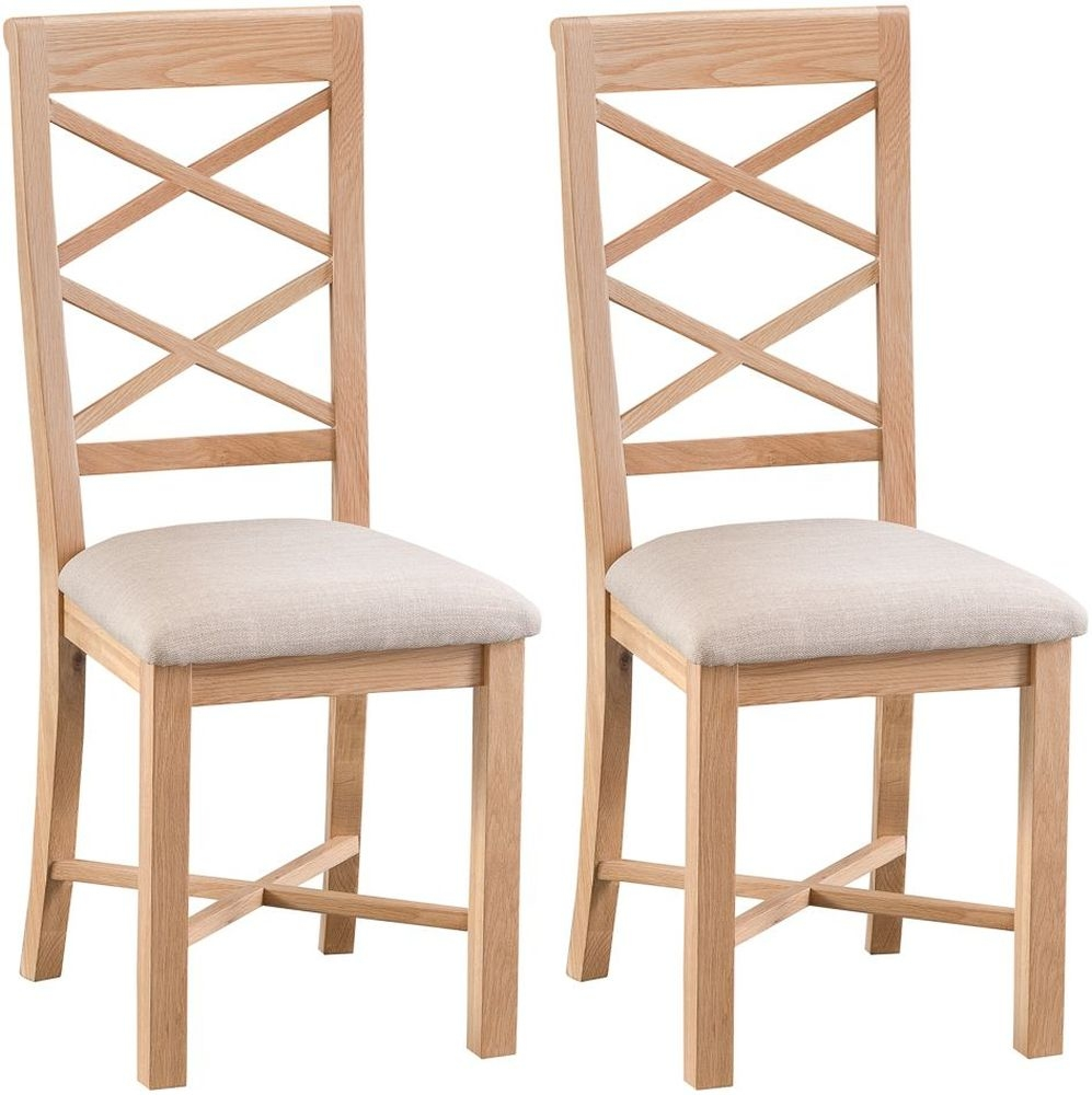 Appleby Oak Double Cross Back Dining Chair (Pair)