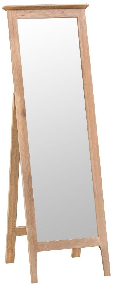 Appleby Oak Rectangular Cheval Mirror - 50cm x 150cm