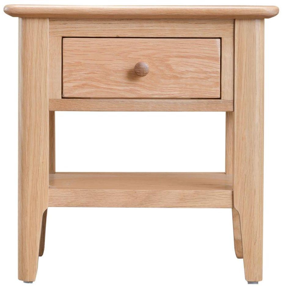 Appleby Oak 1 Drawer Lamp Table