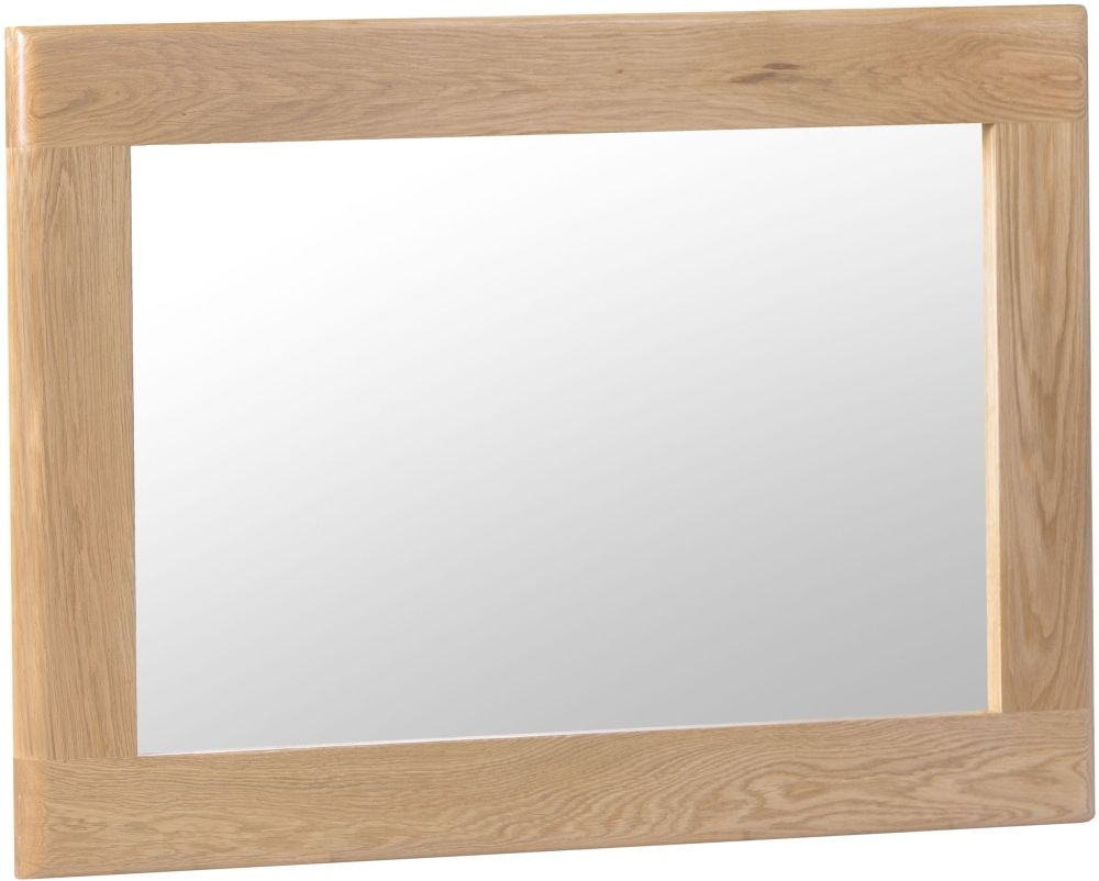 Appleby Oak Rectangular Wall Mirror - 80cm x 60cm