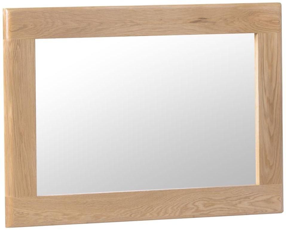 Appleby Oak Rectangular Wall Mirror - 100cm x 70cm